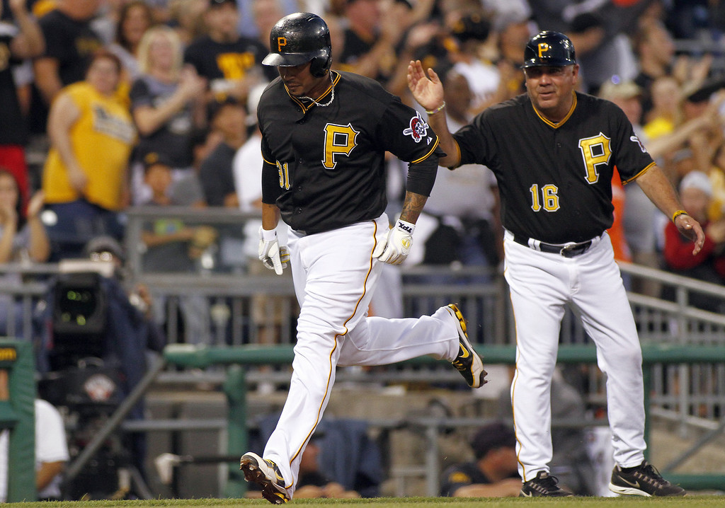 . PITTSBURGH, PA - AUGUST 03:  Jose Tabata #31 of the Pittsburgh Pirates rounds third after hitting a solo home run in the fourth inning against the Colorado Rockies during the game on August 3, 2013 at PNC Park in Pittsburgh, Pennsylvania.  (Photo by Justin K. Aller/Getty Images)