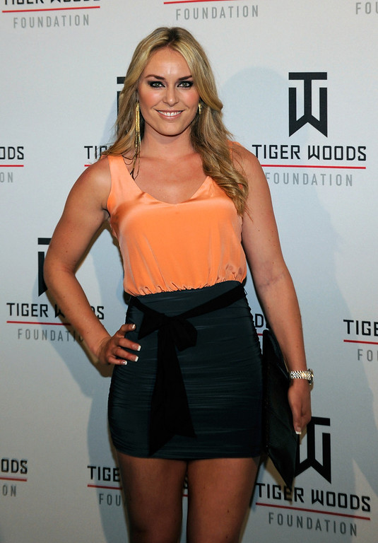 . Ski racer Lindsey Vonn appears during Tiger Jam 2012 at the Mandalay Bay Events Center April 28, 2012 in Las Vegas, Nevada.  (Photo by Ethan Miller/Getty Images)