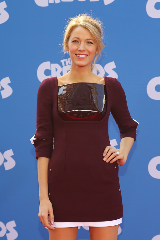 """. Actress Blake Lively attends \""""The Croods\"""" premiere at AMC Loews Lincoln Square 13 theater on March 10, 2013 in New York City.  (Photo by Neilson Barnard/Getty Images)"""