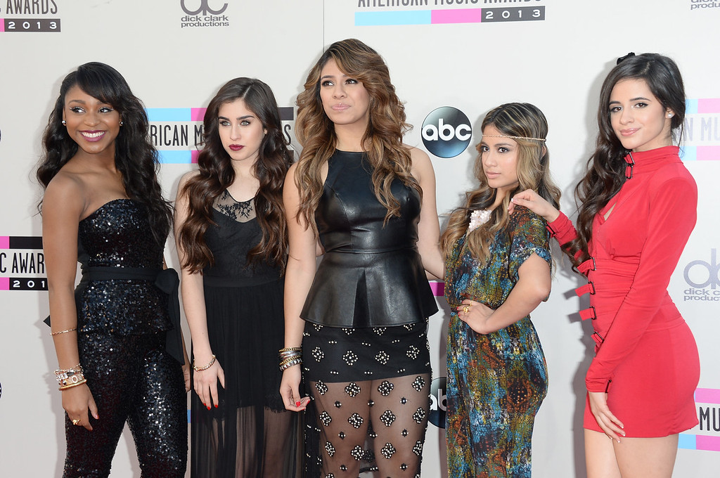 . (L-R) Normani Kordei, Lauren Jauregui, Dinah Jane Hansen, Ally Brooke, and Camila Cabello of Fifth Harmony attend the 2013 American Music Awards at Nokia Theatre L.A. Live on November 24, 2013 in Los Angeles, California.  (Photo by Jason Merritt/Getty Images)
