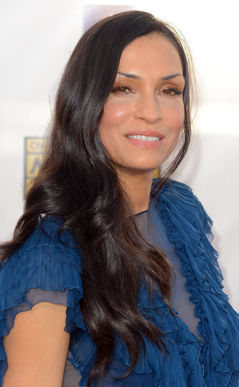 . Actress Famke Janssen arrives at the 18th Annual Critics\' Choice Movie Awards at Barker Hangar on January 10, 2013 in Santa Monica, California.  (Photo by Frazer Harrison/Getty Images)