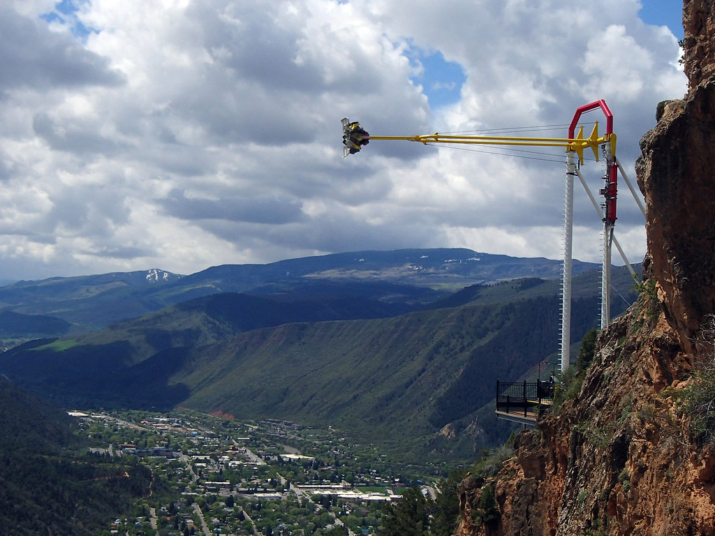 . The Giant Swing at Glenwood Caverns Adventure Park, high above Glenwood Canyon and the town.  Photo provided by Kara Williams