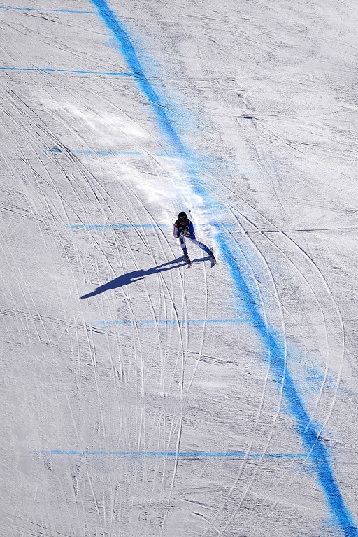 . Lara Gut of Switzerland works the course during her training run. (Photo by AAron Ontiveroz/The Denver Post)
