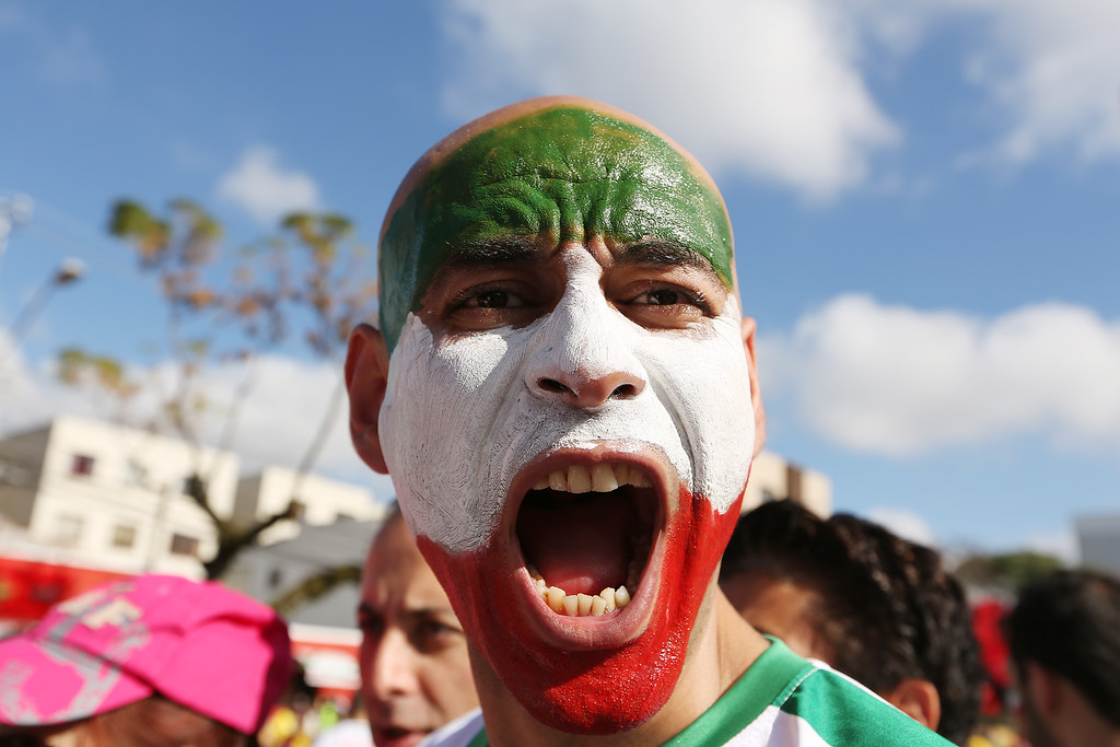 . Fans arrive for the Group F match between Iran and Nigeria during the 2014 FIFA World Cup Brazil at Arena da Baixada on June 16, 2014 in Curitiba, Brazil. (Photo by Giuliano Gomes/Getty Images)