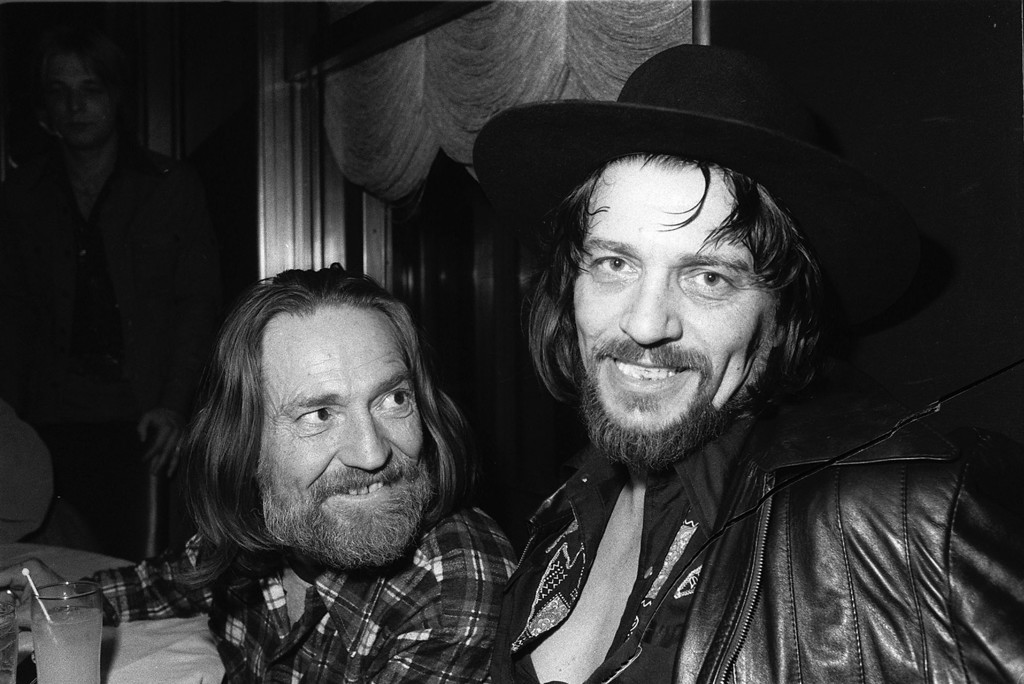 . Country music singers Waylon Jennings, right, and Willie Nelson are shown in New York City on Feb. 5. 1978.  (AP Photo)
