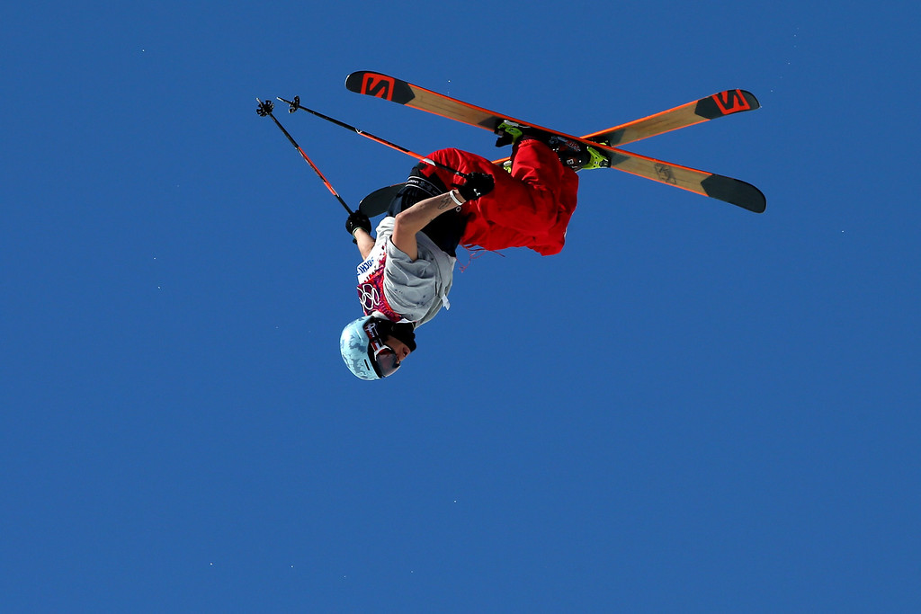 . Bobby Brown of the United States competes in the Freestyle Skiing Men\'s Ski Slopestyle Finals during day six of the Sochi 2014 Winter Olympics at Rosa Khutor Extreme Park on February 13, 2014 in Sochi, Russia.  (Photo by Mike Ehrmann/Getty Images)