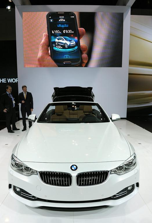 . BMW 4 Series Convertible at the 2013 LA Auto Show in Los Angeles, California, USA, 20 November 2013.  EPA/BOB RIHA JR
