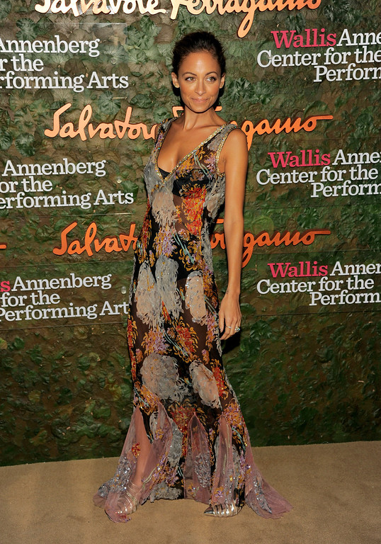 . TV personality/fashion designer Nicole Richie arrives at the Wallis Annenberg Center for the Performing Arts Inaugural Gala on Thursday, Oct. 17, 2013, in Beverly Hills, Calif. (Photo by Chris Pizzello/Invision/AP)