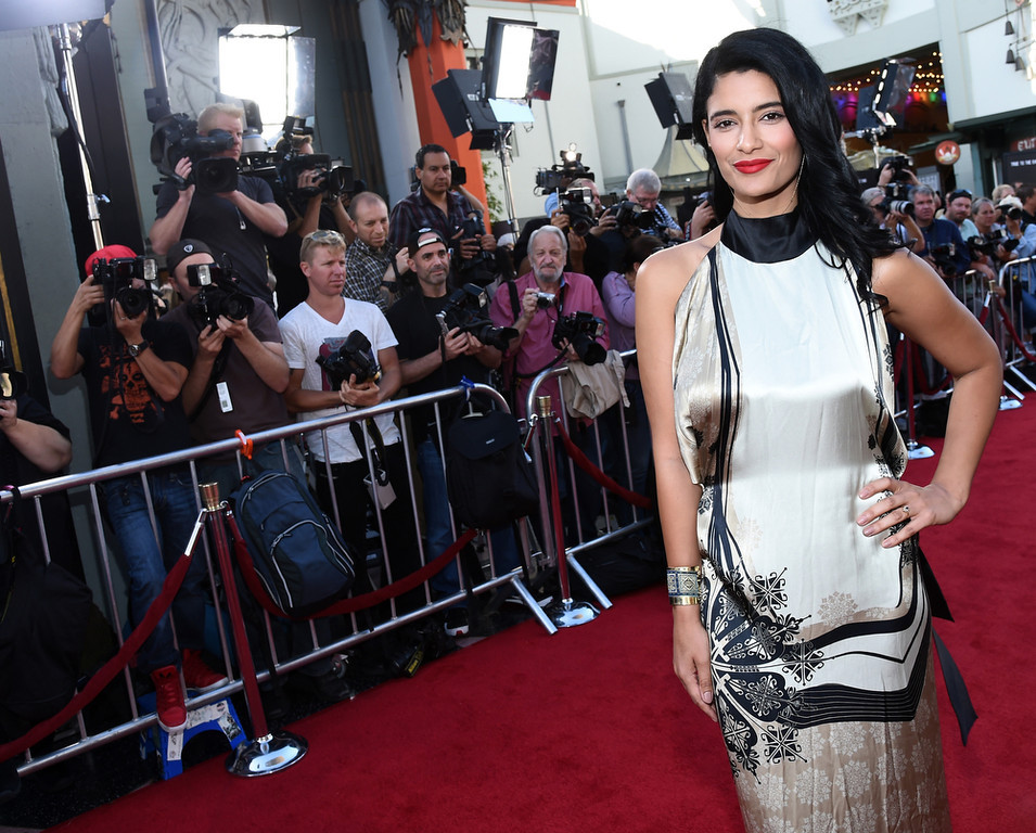 ". Actress Jessica Clark attends Premiere Of HBO\'s ""True Blood\"" Season 7 And Final Season at TCL Chinese Theatre on June 17, 2014 in Hollywood, California.  (Photo by Michael Buckner/Getty Images)"