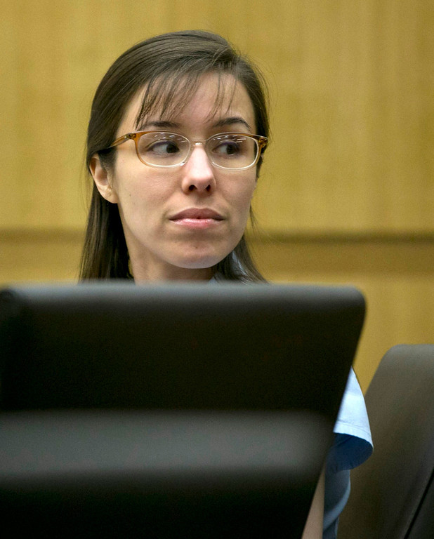 . Jodi Arias  looks off during her trial at Maricopa County Superior Court in Phoenix  Wednesday, April 10, 2013.   Arias is on trial for the killing of her boyfriend, Travis Alexander, in 2008. David Wallace/The Arizona Republic (AP Photo/The Arizona Republic, David Wallace, pool)