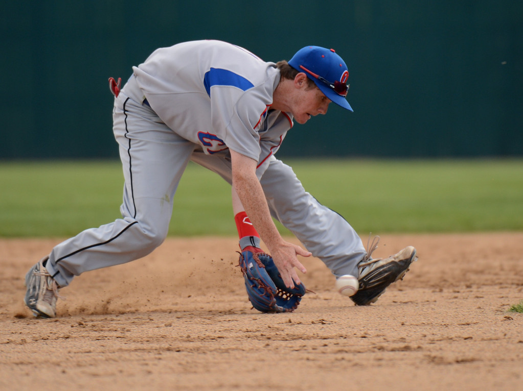 . DENVER, CO. - MAY 24 :Jack Hallmark of Cherry Creek High School (11) is in action during semifinal round of 5A State Championships baseball game against ThunderRidge High School at All City Field. Denver, Colorado. May 24, 2013. ThunderRidge won 5-1. (Photo By Hyoung Chang/The Denver Post)