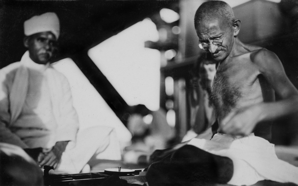 . Mahatma Gandhi (right) with fellow delegate Madan Mohan Malaviya aboard the S.S. Rajputana en route to the Second Round Table Conference on Dominion Status for India (September - December 1931) in London. (AP Photo/James A. Mills)