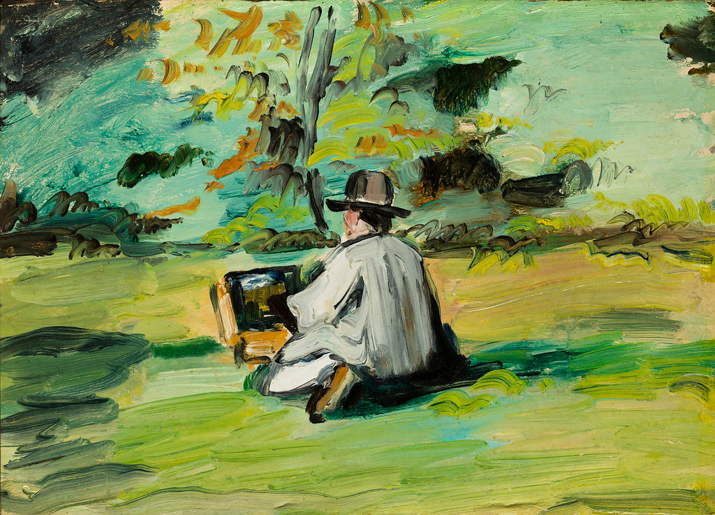 ". Paul Cezanne, ""A Painter at Work,\"" 1874-75. (Image provided by the Denver Art Museum)"