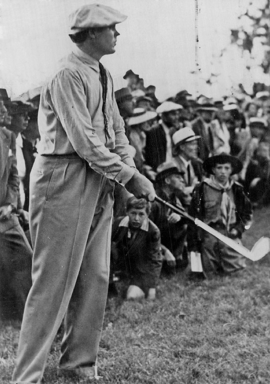 . Ralph Guldahl during 1938 U.S. Open Cherry Hills. Denver Post Library photo archive
