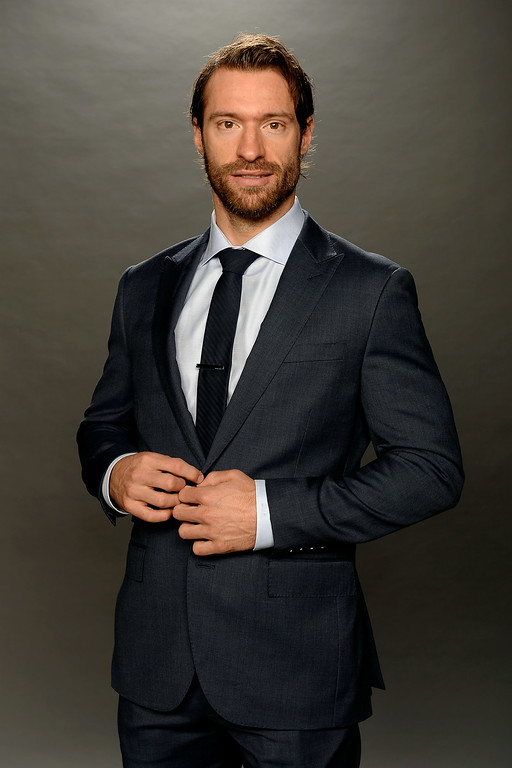 . Dominic Moore of the New York Rangers poses for a portrait during the 2014 NHL Awards at Encore Las Vegas on June 24, 2014 in Las Vegas, Nevada.  (Photo by Harry How/Getty Images)