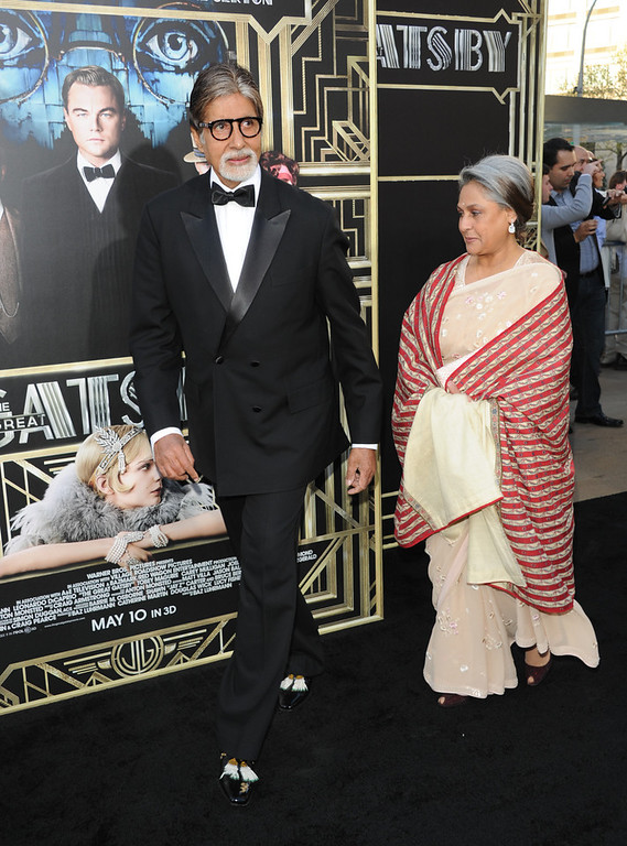 ". Indian film actor Amitabh Bachchan attends ""The Great Gatsby\"" world premiere at Avery Fisher Hall on Wednesday May 1, 2013 in New York. (Photo by Evan Agostini/Invision/AP)"