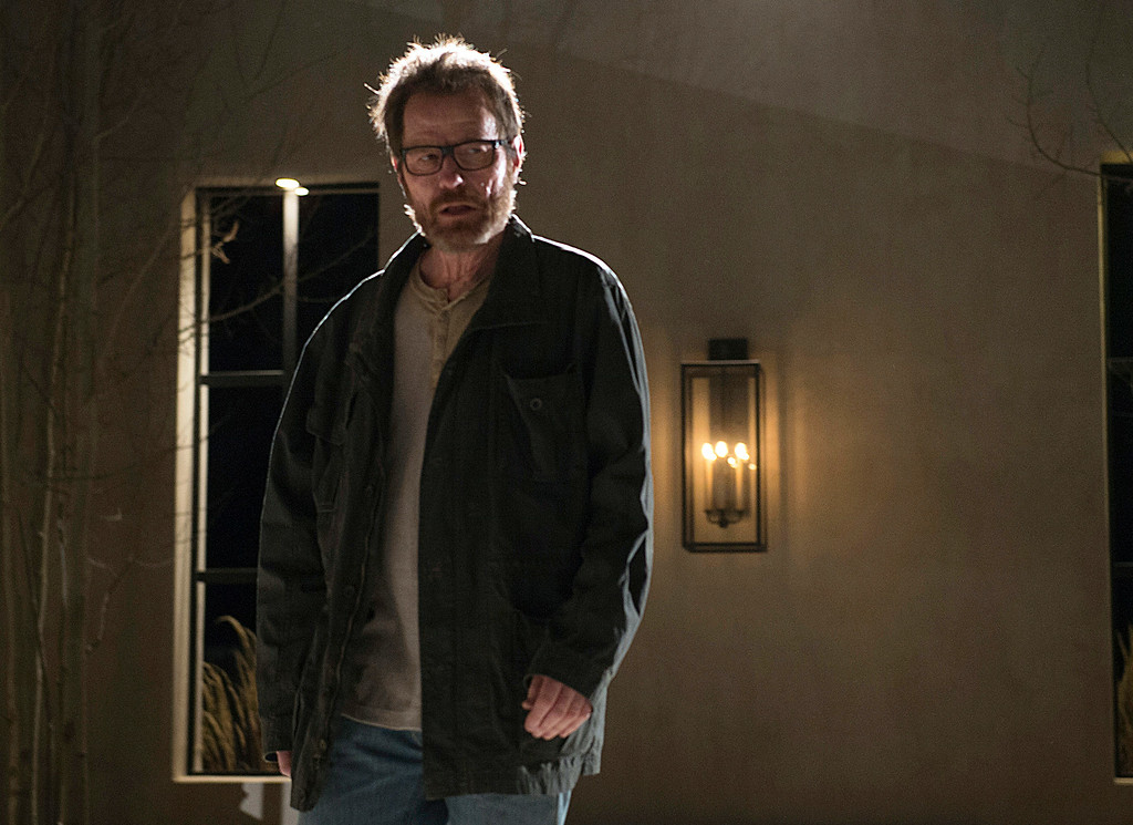 ". This image released by AMC shows Bryan Cranston as Walter White in a scene from the series finale of ""Breaking Bad.\"" Cranston was nominated for an Emmy Award for best actor in a drama series on Thursday, July 10, 2014, for his role as Walter White. The 66th Primetime Emmy Awards will be presented Aug. 25 at the Nokia Theatre in Los Angeles. (AP Photo/AMC, Ursula Coyote, file)"
