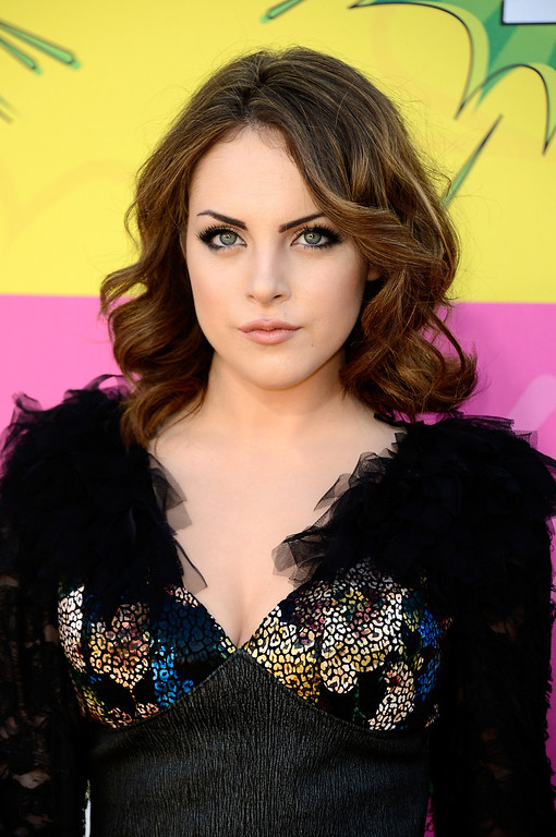 . LOS ANGELES, CA - MARCH 23:  Actress Elizabeth Gillies arrives at Nickelodeon\'s 26th Annual Kids\' Choice Awards at USC Galen Center on March 23, 2013 in Los Angeles, California.  (Photo by Frazer Harrison/Getty Images)