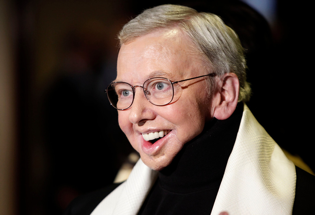 . This Jan. 2009 file photo shows film critic and author Roger Ebert, recipient of the Honorary Life Member Award, at the Directors Guild of America Awards in Los Angeles. Ebert, the most famous and most popular film reviewer of his time, died April 4, 2013. He was 70. (AP Photo/Matt Sayles)