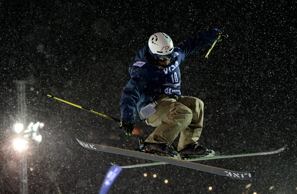 . COPPER MOUNTAIN, CO. DECEMBER 20: Nils Lauper is in action during the ski halfpipe final U.S. Snowboarding Grand Prix. Copper Mountain, Colorado. December 20. 2013. (Photo by Hyoung Chang/The Denver Post)