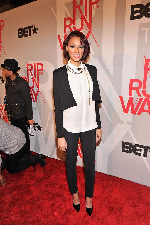 . Actress Bria Murphy attends BET\'s Rip The Runway 2013:Red Carpet at Hammerstein Ballroom on February 27, 2013 in New York City.  (Photo by Stephen Lovekin/Getty Images for BET\'s Rip The Runway)