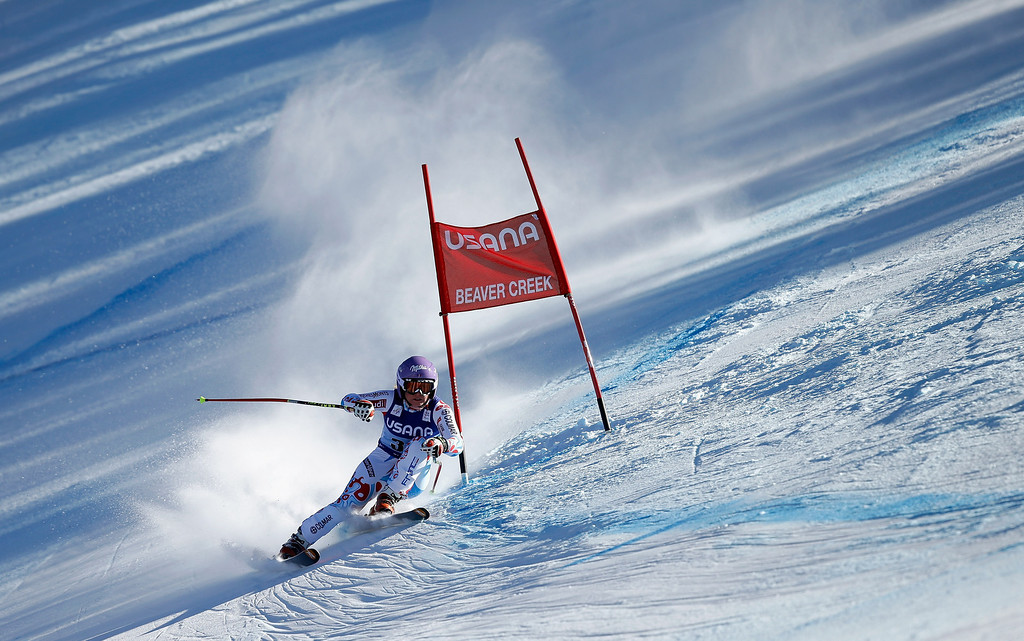 . Tessa Worley of France in action during the FIS Beaver Creek Ladies\' Super G World Cup Race on November 30, 2013 in Beaver Creek, Colorado.  (Photo by Ezra Shaw/Getty Images)