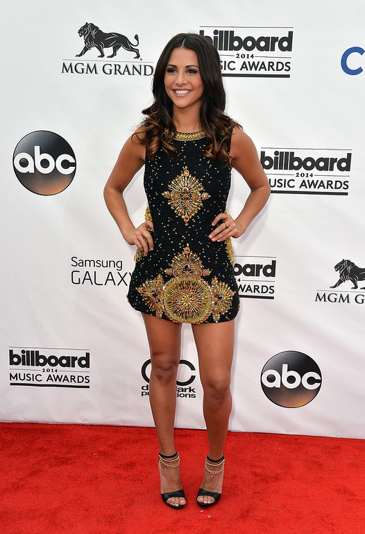 . TV personality Andi Dorfman attends the 2014 Billboard Music Awards at the MGM Grand Garden Arena on May 18, 2014 in Las Vegas, Nevada.  (Photo by Frazer Harrison/Getty Images)