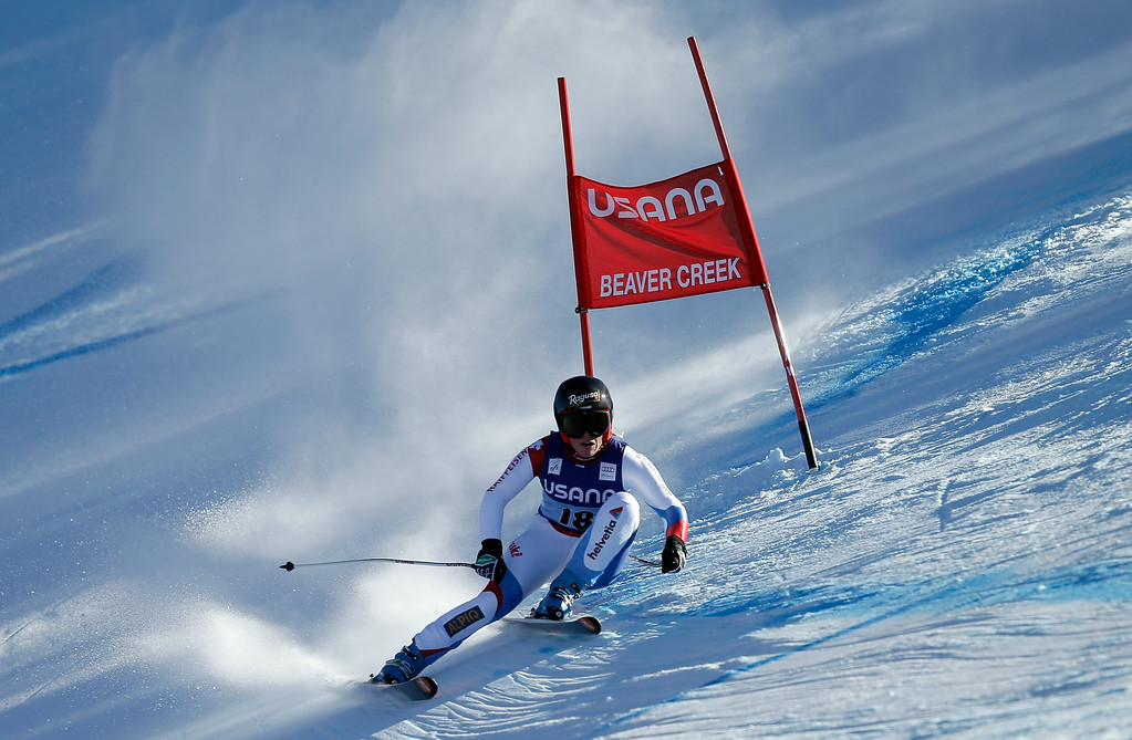 . Lara Gut of Switzerland in action during the FIS Beaver Creek Ladies\' Super G World Cup Race on November 30, 2013 in Beaver Creek, Colorado. Gut won the race.  (Photo by Ezra Shaw/Getty Images)