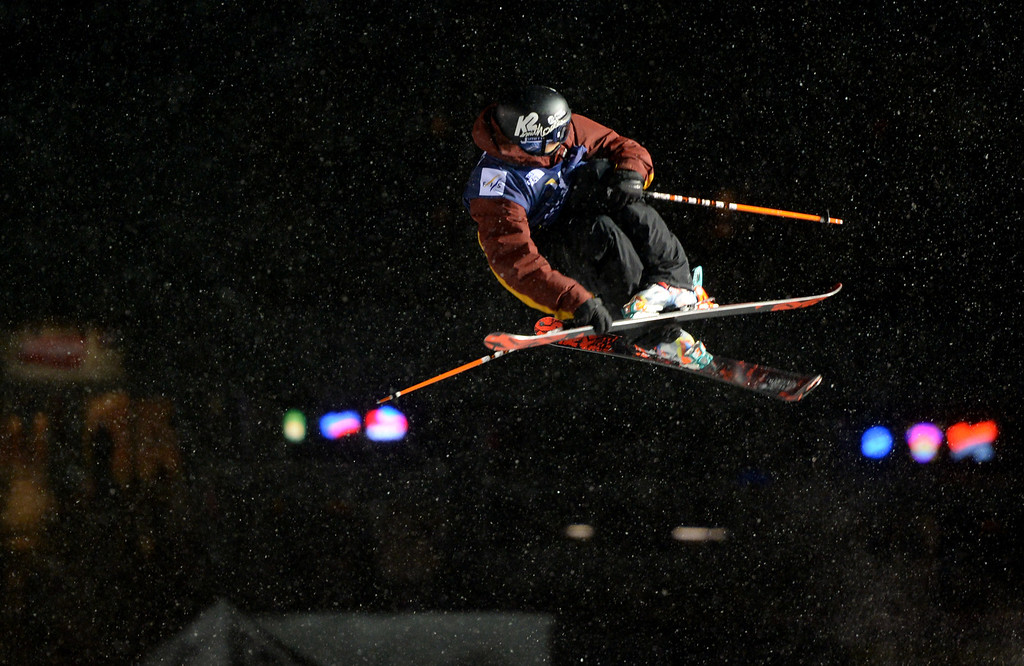 . COPPER MOUNTAIN, CO. DECEMBER 20: Lyman Currier is in action during the ski halfpipe final U.S. Snowboarding Grand Prix. Copper Mountain, Colorado. December 20. 2013. (Photo by Hyoung Chang/The Denver Post)