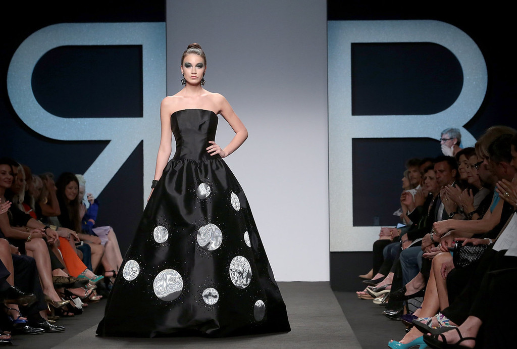 . A model walks the runway during Renato Balestra F/W 2013-2014 Haute Couture collection fashion show as part of AltaRoma AltaModa Fashion Week at Santo Spirito In Sassia on July 8, 2013 in Rome, Italy. (Photo by Elisabetta Villa/Getty Images)