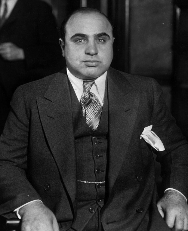 . This is an undated photo of Chicago mobster Al Capone. (AP PHOTO)