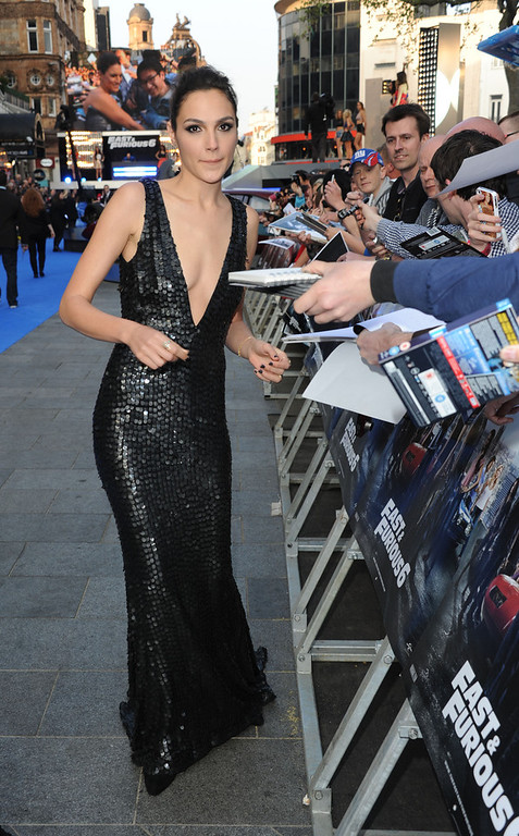 ". Actress Gal Gadot attends the ""Fast & Furious 6\"" World Premiere at The Empire, Leicester Square on May 7, 2013 in London, England.  (Photo by Stuart C. Wilson/Getty Images for Universal Pictures)"