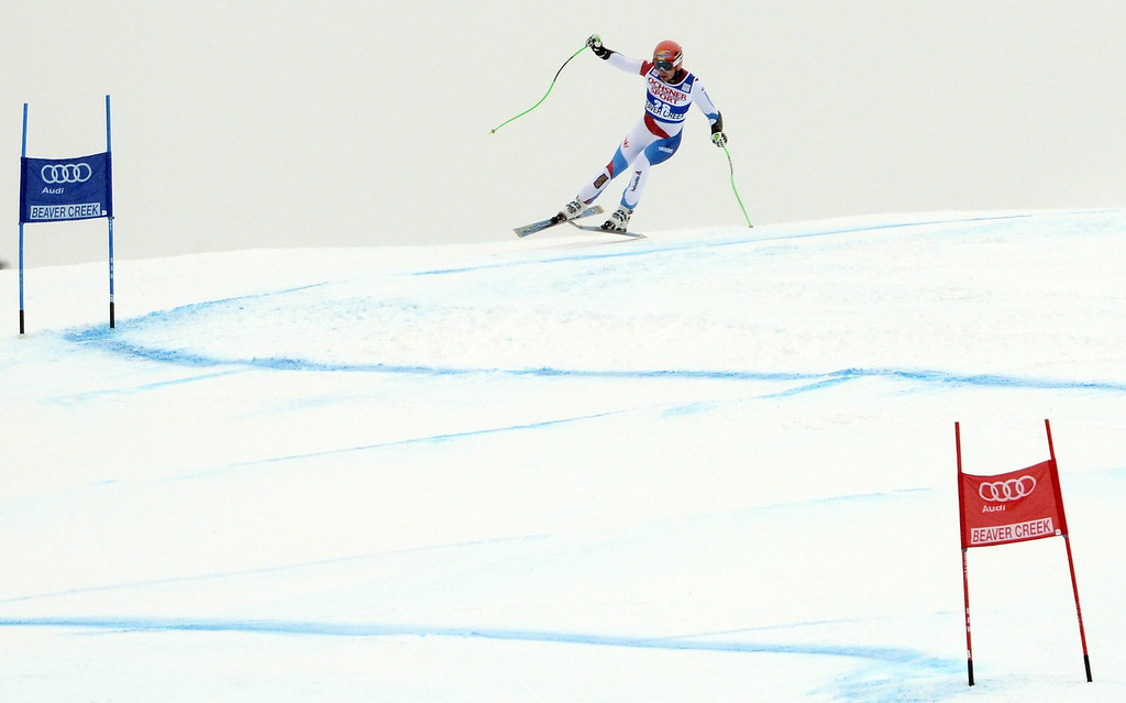 . Patrick Kueng, of Switzerland, in action during the Men\'s Super-G race at the FIS Alpine Skiing World Cup in Beaver Creek, Colorado, USA, 07 December 2013.  EPA/JUSTIN LANE