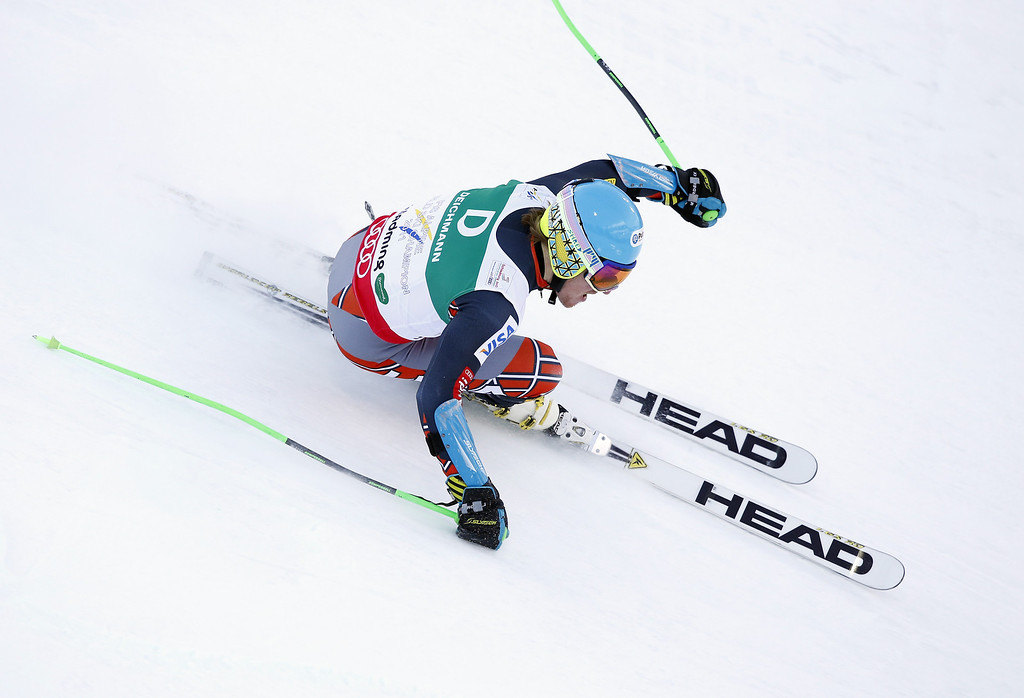 . SCHLADMING, AUSTRIA - FEBRUARY 15: (FRANCE OUT) Ted Ligety of the USA competes during the Audi FIS Alpine Ski World Championships Men\'s Giant slalom on February 15, 2013 in Schladming, Austria. (Photo by Alexis Boichard/Agence Zoom/Getty Images)