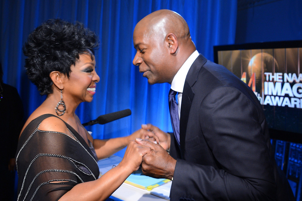 . LOS ANGELES, CA - FEBRUARY 01:  Singer Gladys Knight and actor Dennis Haysbert attend the 44th NAACP Image Awards at The Shrine Auditorium on February 1, 2013 in Los Angeles, California.  (Photo by Mark Davis/Getty Images for NAACP Image Awards)