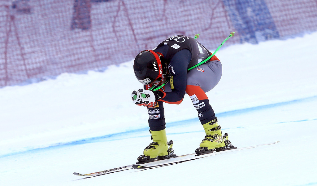 . Steven Nyman of the United States in action during the men\'s downhill race for the Birds of Prey Audi FIS Ski World Cup on December 6, 2013 in Beaver Creek, Colorado.  (Photo by Doug Pensinger/Getty Images)