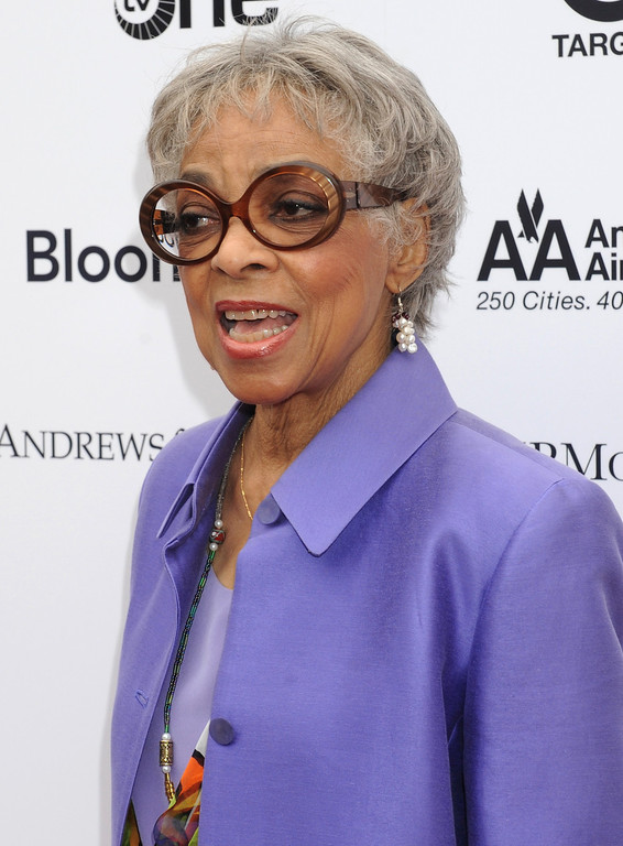 . In this June 14, 2010 file photo, actress Ruby Dee arrives at the Apollo Theater for the Spring 2010 Benefit Concert and Awards Ceremony in New York. (AP Photo/ Louis Lanzano, file)