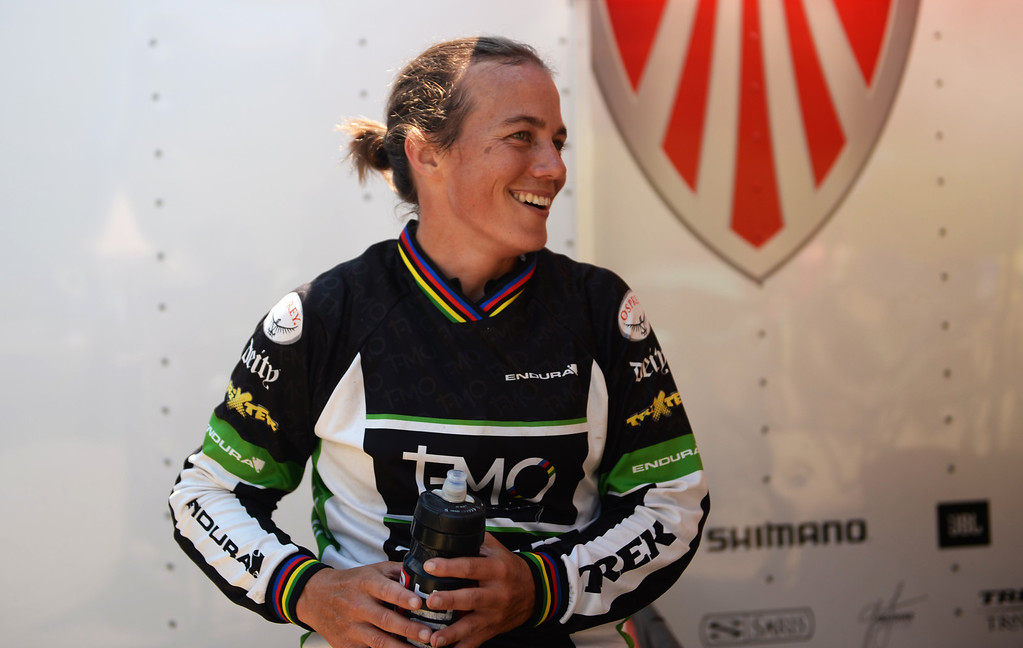. WINTER PARK, CO. - July 26: Tracy Moseley is in the first international Enduro World Cup Championship ever in U.S. at Winter Park, Colorado. July 26, 2013. (Photo By Hyoung Chang/The Denver Post)
