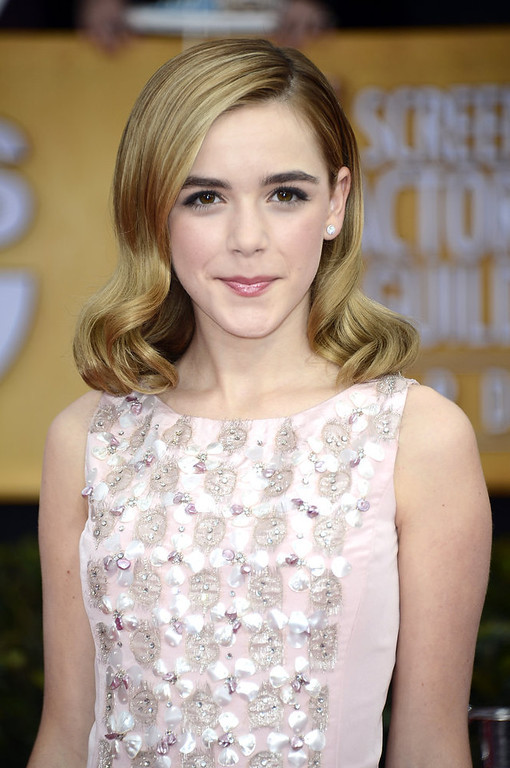 . Actress Kiernan Shipka arrives at the 19th Annual Screen Actors Guild Awards held at The Shrine Auditorium on January 27, 2013 in Los Angeles, California.  (Photo by Frazer Harrison/Getty Images)