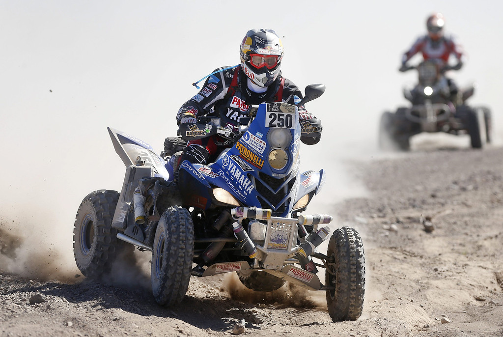 . Argentinean Marcos Patronelli in action during the second stage of the Rally Dakar 2014 between the Argentinean localities of San Luis and San Rafael, 06 January 2014. Rally Dakar will run between 4 and 18 January across Argentina, Bolivia and Chile.  EPA/Felipe Trueba
