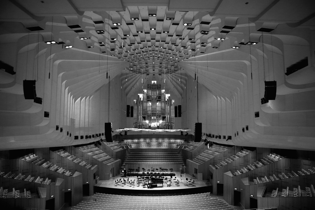 . A general view of the Concert Hall inside the Sydney Opera House on September 20, 2013 in Sydney, Australia. On October 20, 2013 the iconic Sydney Opera House will celebrate 40 years since it was officially opened by Queen Elizabeth II in 1973.   (Photo by Cameron Spencer/Getty Images)