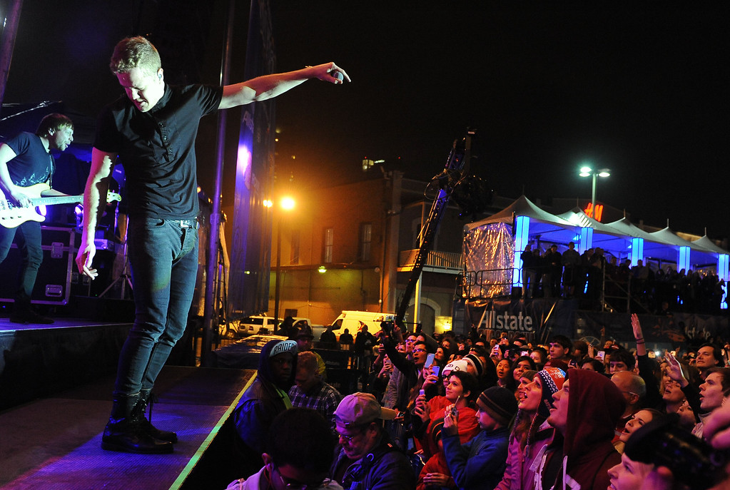. IMAGE DISTRIBUTED FOR ALLSTATE - Grammy-nominated Imagine Dragons performs a free concert at the Allstate Fan Fest in New Orleans on Wednesday, Jan. 1, 2014. Alabama Crimson Tide plays the Oklahoma Sooners in the Allstate Sugar Bowl at the Mercedes-Benz Superdome on Jan. 2, 2014. (Cheryl Gerber/AP Images for Allstate)