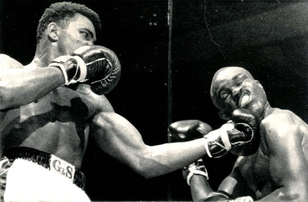 . Muhammad Ali boxing, 1963. Denver post Library Archive