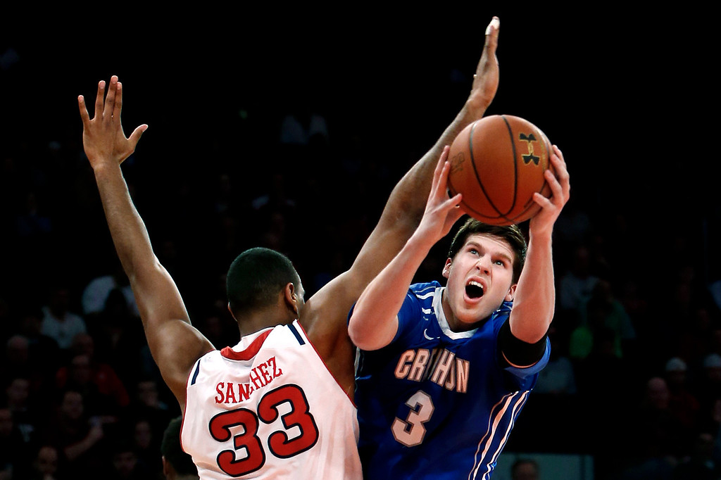. Doug McDermott The 6-8 Creighton forward scored from pretty much everywhere on the floor last season, averaging 26.7 points on 52.6 percent shooting form the floor and 44.9 percent from three-point range. He may not still be around by the time No. 11 is up, but he could still help the Nuggets� from long range. Creighton\'s Doug McDermott (3) shoots against St. John\'s Orlando Sanchez (33), of the Dominican Republic, during the first half of an NCAA college basketball game, Sunday, Feb. 9, 2014, in New York. (AP Photo/Jason DeCrow)