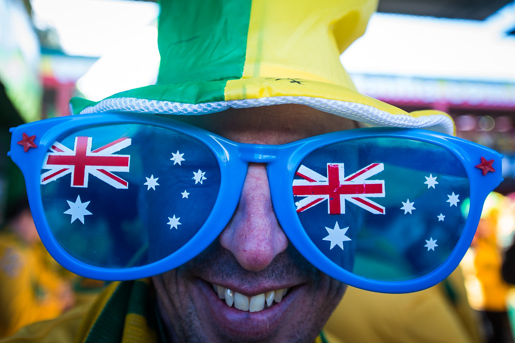 . Fans arrive prior to the 2014 FIFA World Cup Brazil Group B match between Australia and Netherlands at Estadio Beira-Rio on June 18, 2014 in Porto Alegre, Brazil.   (Photo by Vinicius Costa/Getty Images)