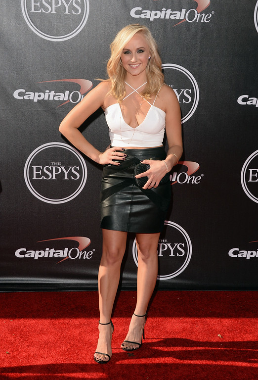 . LOS ANGELES, CA - JULY 16:  Gymnast Nastia Liukin attends The 2014 ESPYS at Nokia Theatre L.A. Live on July 16, 2014 in Los Angeles, California.  (Photo by Jason Merritt/Getty Images)