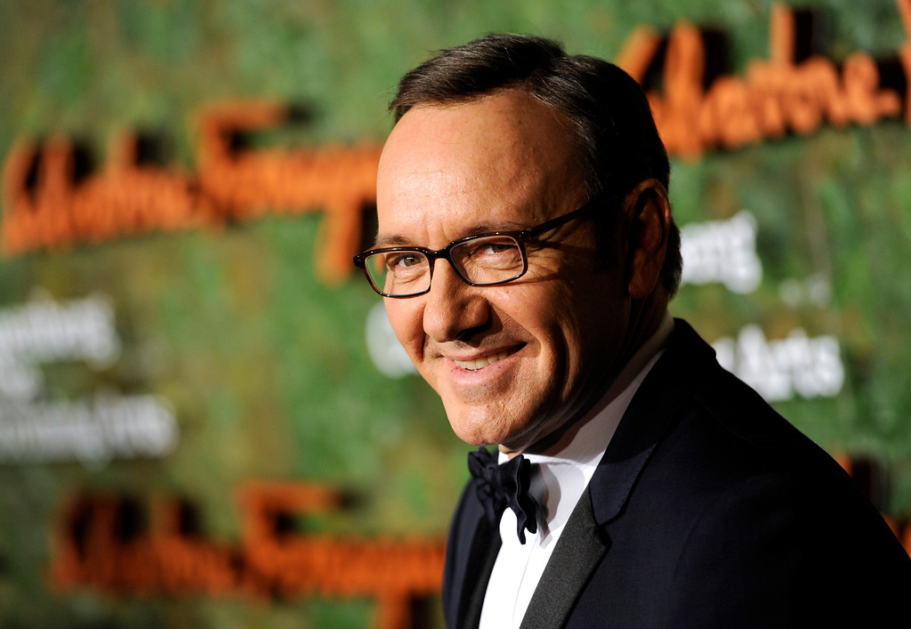 . Actor Kevin Spacey arrives at the Wallis Annenberg Center for the Performing Arts Inaugural Gala on Thursday, Oct. 17, 2013, in Beverly Hills, Calif. (Photo by Chris Pizzello/Invision/AP)