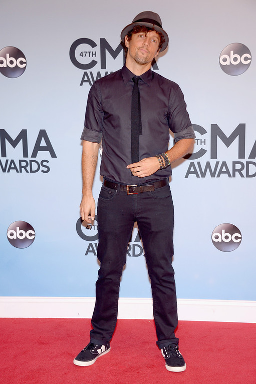 . NASHVILLE, TN - NOVEMBER 06:  Jason Mraz attends the 47th annual CMA Awards at the Bridgestone Arena on November 6, 2013 in Nashville, Tennessee.  (Photo by Michael Loccisano/Getty Images)