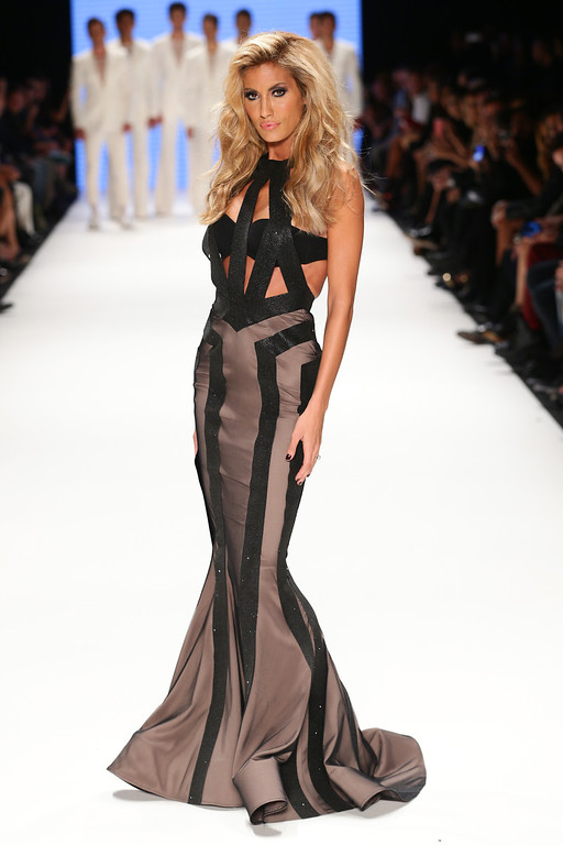 . Model Cagla Sikel walks the runway at the Hakan Akkaya show during Mercedes-Benz Fashion Week Istanbul s/s 2014 presented by American Express on October 9, 2013 in Istanbul, Turkey.  (Photo by Vittorio Zunino Celotto/Getty Images for Maybelline)