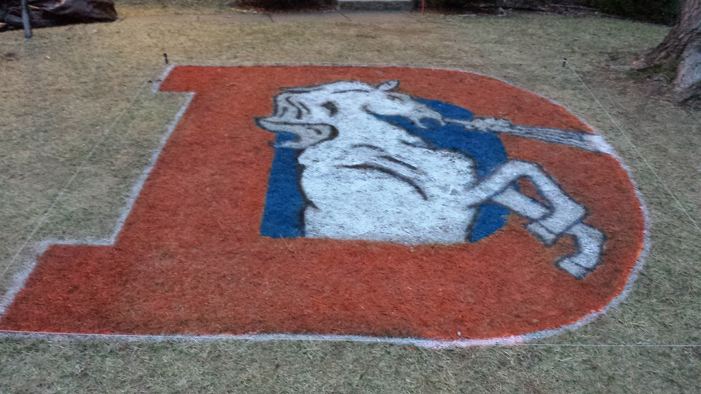 . United In Orange, all the way from Virginia. 12ft x 12ft logo.